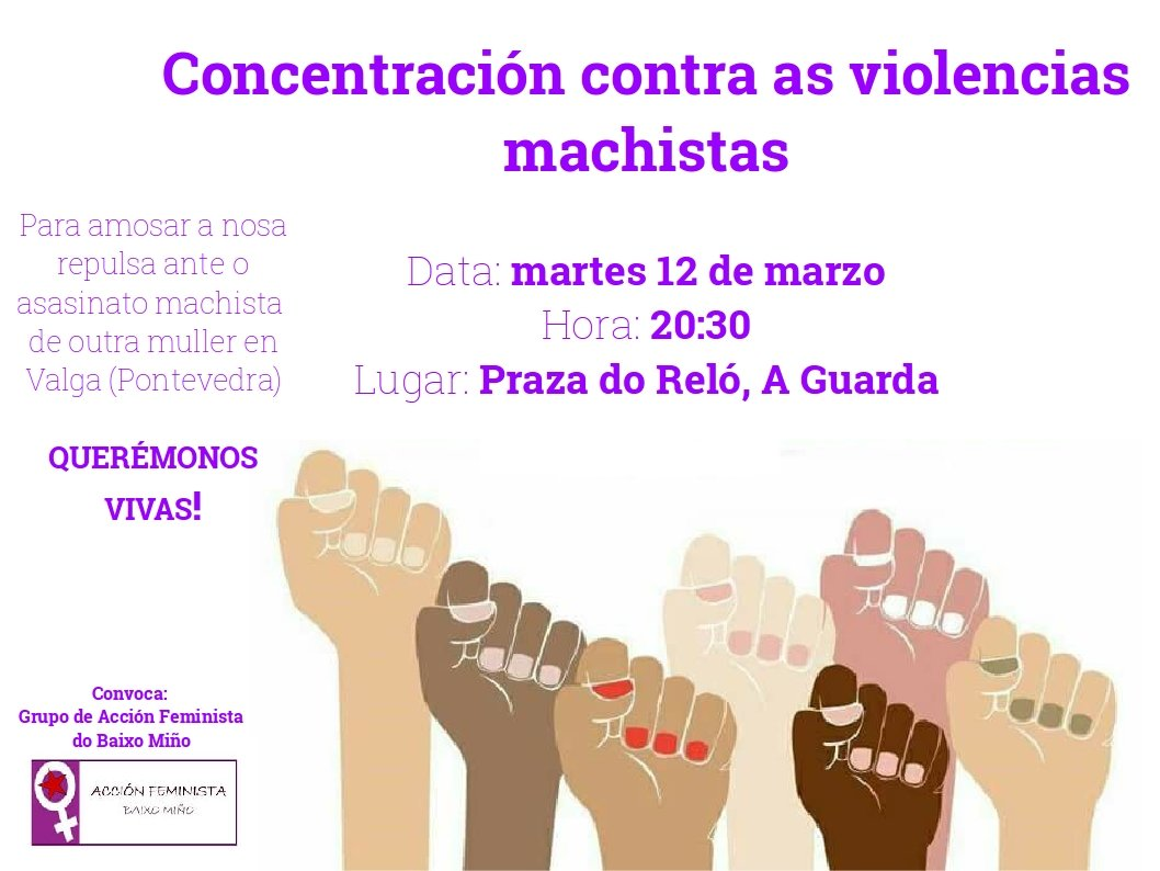Concentración contra as Violencias Machistas na Guarda